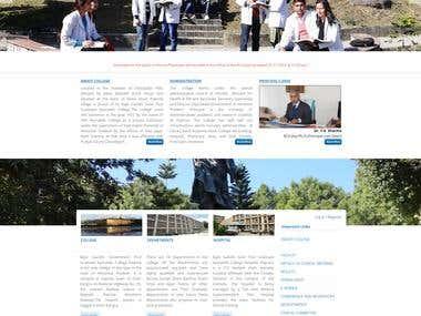 Govt. Medical Hospital & College Website Development