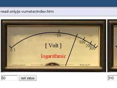 Javascript VU Meter