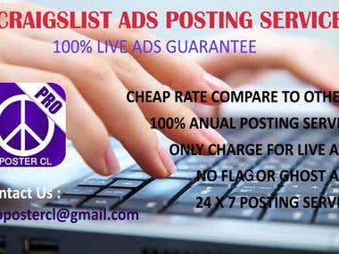 100% Live Classified Ad Poster | Craigslist Posting Service