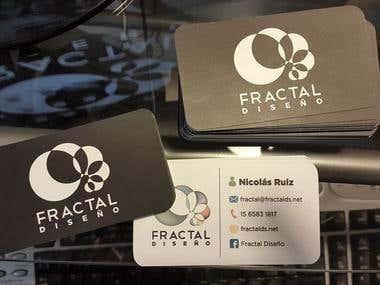 Tarjetas Personales - Fractal Diseño