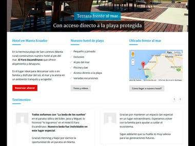 www.elfaroescandinavo.com - Luxury beach hotel, website