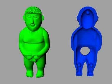 PVC plastic toy modeling work