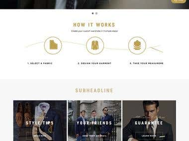 CUSTOMIZE SUIT ECOMMERCE WEBSITE