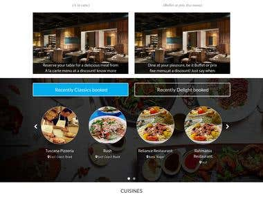 Restaurant Table Booking Website