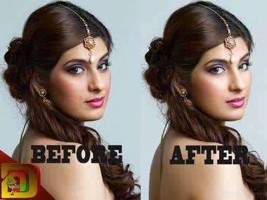 retach photoshop before and after