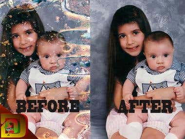 image alteration before and after