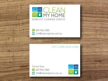 Clean my Home Business Card