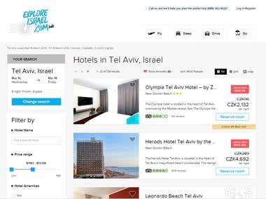 Hotel bookings trough many different  providers