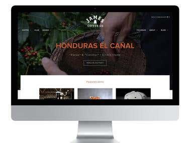 "Website ""James Coffee"""