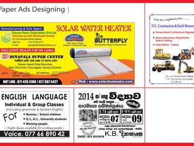 Paper advertisement  Designing