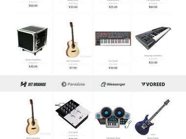 Online Instrummet shopping portal