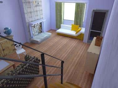 3D model & Rendering for Interior Design