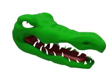 3D Rendering of Florida Symbol - The Crocodile ;)