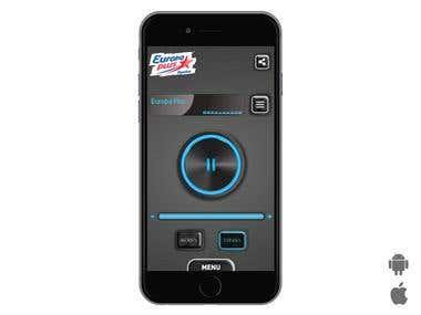 """Mobile App """"Europa FM"""""""