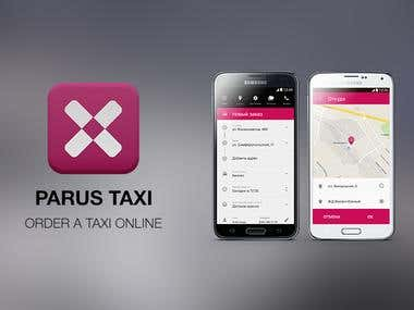 Parus Taxi. Android app.