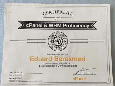 cpanel/WHM Sales certification