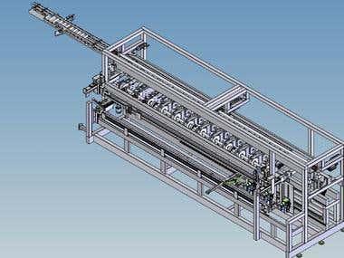 Special purpose machine for making radiators
