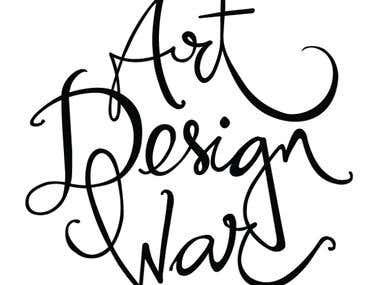 Typography design for Art, Design, War