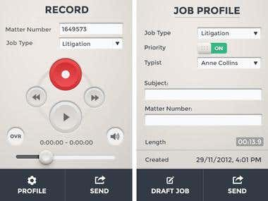 Interface Design for Dictation Software