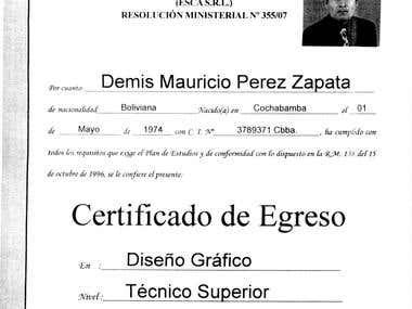 Certificados ,Diplomas y CVI.