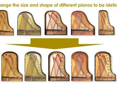 Change the size and shape of different pianos