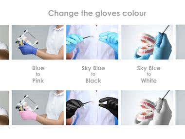 Changing glove colour