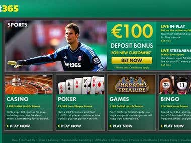 Bet 365 - Review writing, SEO