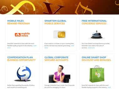 Telecommunication company website with MLM plans