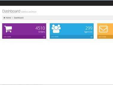 MVC(custom admin panel bootstap )