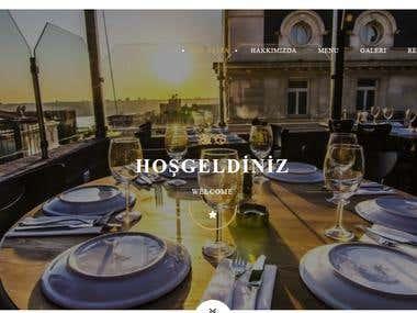 Restaurant website with custom admin panel