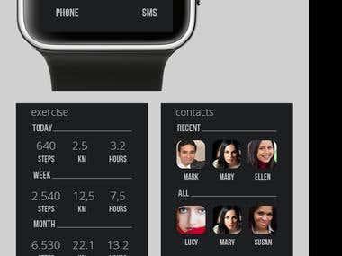 App designs - Smart Watch