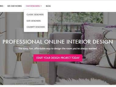 Home  decoration site development
