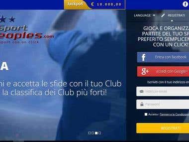 Sports Landing page development