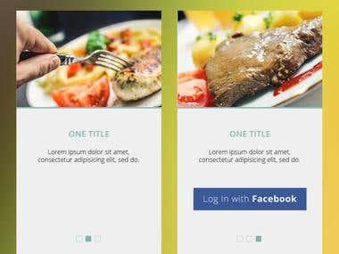 App designs - Food App
