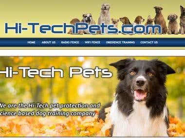 Hi Tech Pets website
