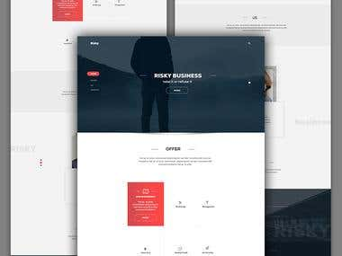 Risky Business landing page