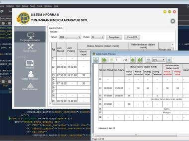 wxWidgets C++ attendance software project for government
