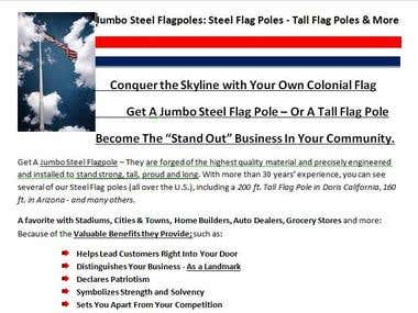 Sales Page for Jumbo Steel Flagpoles
