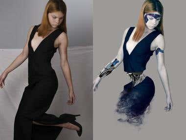 Complex photo manipulation.