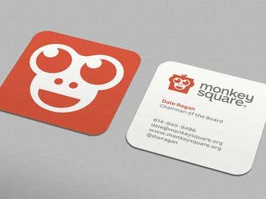 MonkeySquare Business Cards Design