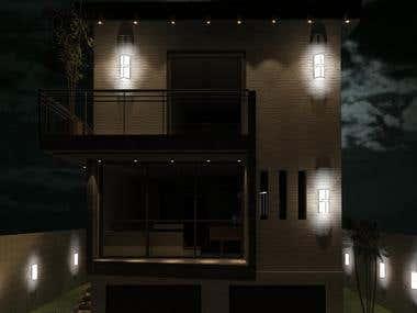 Facade + interior design.