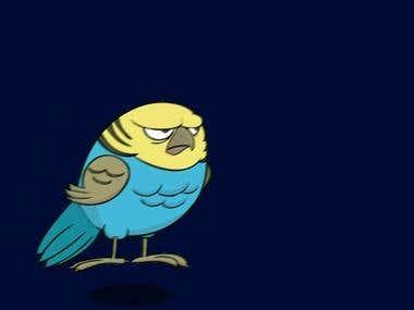 Animación Budgie bird