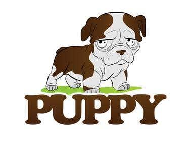 Illustration logo - Puppy