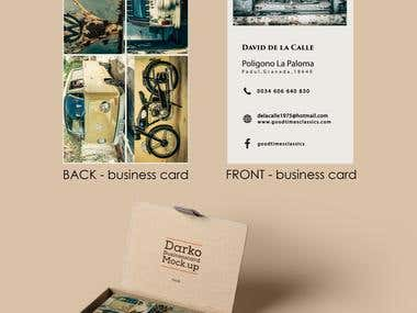 Business cards - Cars Restore