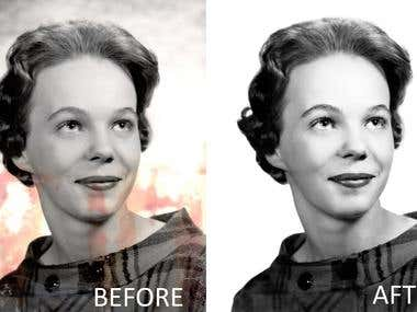 Old & damaged photo enchancement.