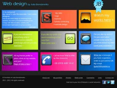 Portfolio of web designer