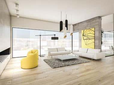 Contemporary Three Rooms Design