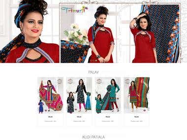 Dress material web site
