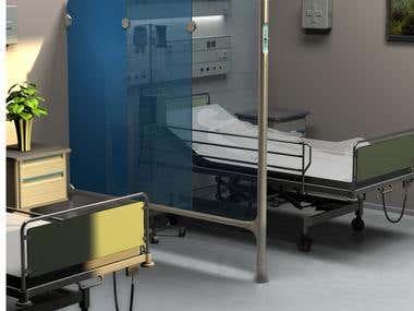 Hospital room divider