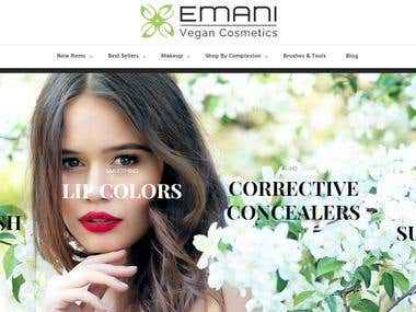 Emani vegan cosmetics formulates vegan makeup